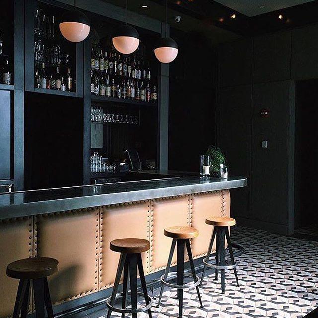 Sixty Soho   NYC Gordon Bar Floor tile More