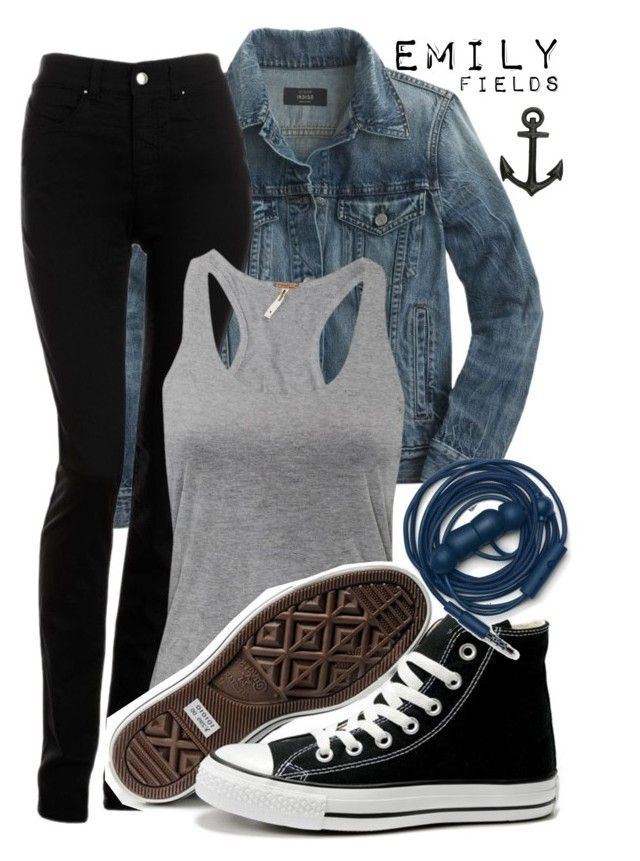 """Emily Fields"" by montans ❤ liked on Polyvore featuring J.Crew, Armani Jeans, Converse, Urbanears, Jayson Home, PrettyLittleLiars, pll, liars and EmilyFields"