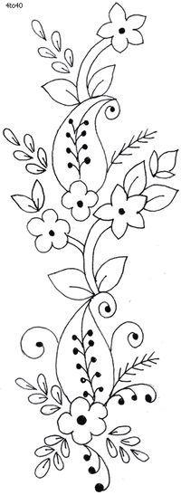 dibujo cenefa de flores