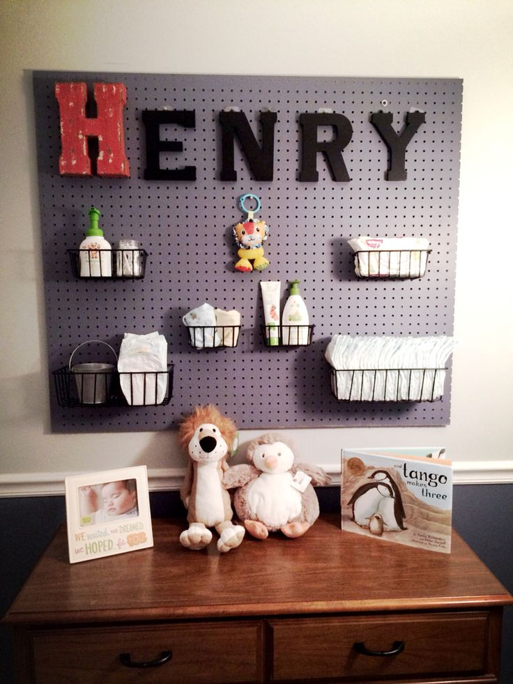 Diy Pegboard Changing Table Baby Ideas Baby Room