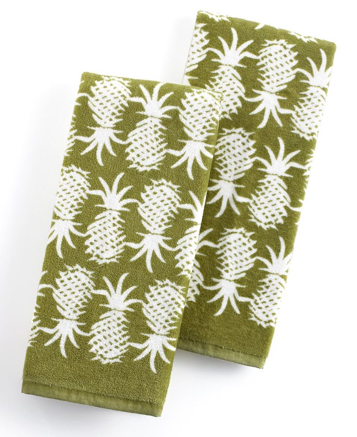 Tommy Bahama Kitchen Towels, Set of 2 Pineapple Pop - Table Linens - Dining & Entertaining - Macy's