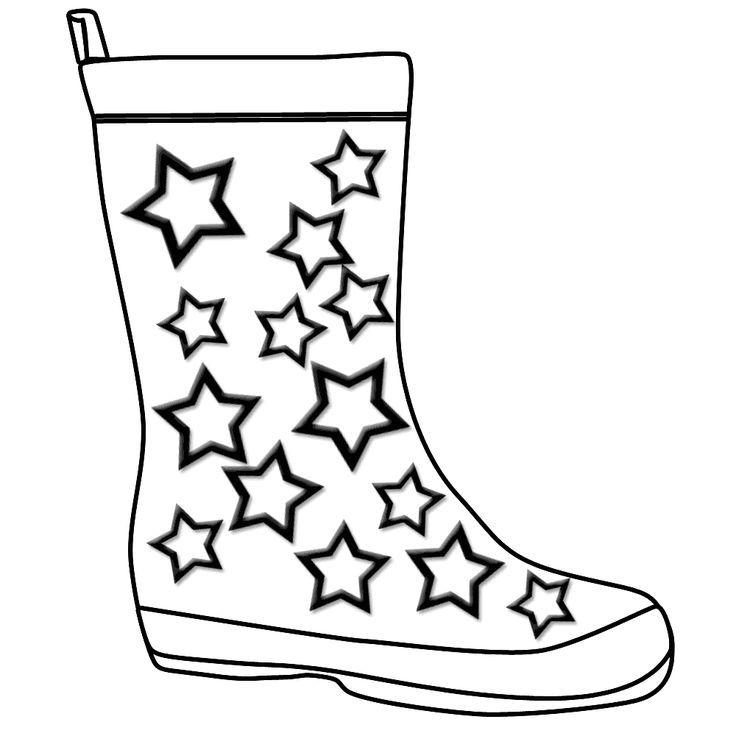 The Boot Kidz | Outline of Wellington Boot/Stencil for colouring- - ClipArt Best - ClipArt Best