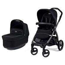 Peg Perego Book Pop-Up Stroller and Bassinet - Onyx