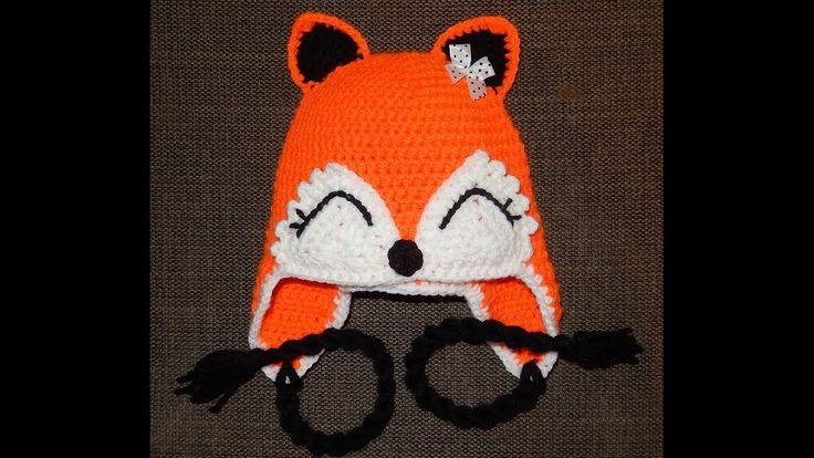 Crochet hat - virkattu pipo - tutorial - ohje - fox - kettu