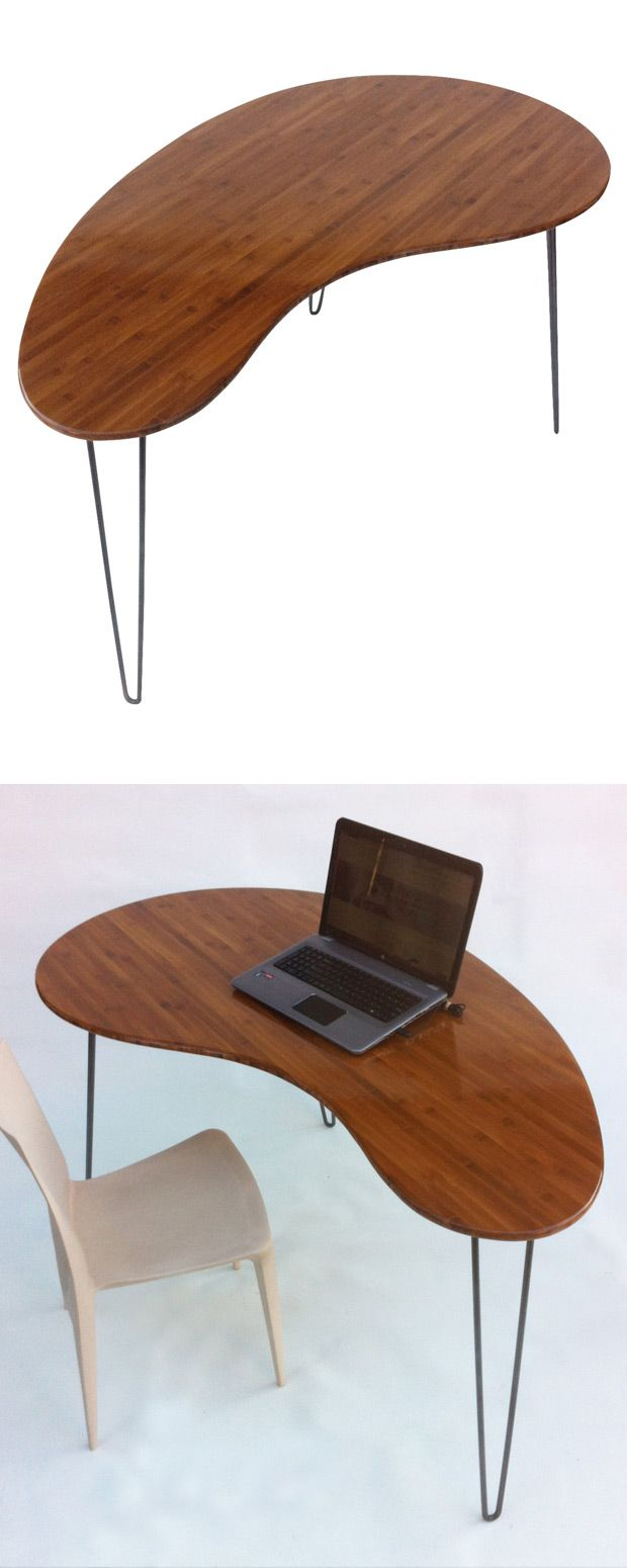custom standing desk kidney shaped mid. Here\u0027s A Reproduction Done Oh-so Right. Crafted Out Of Bamboo, The Rich Custom Standing Desk Kidney Shaped Mid F