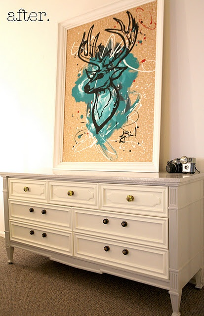 I have plans to do this next spring. My dresser and nightstand need a makeover!