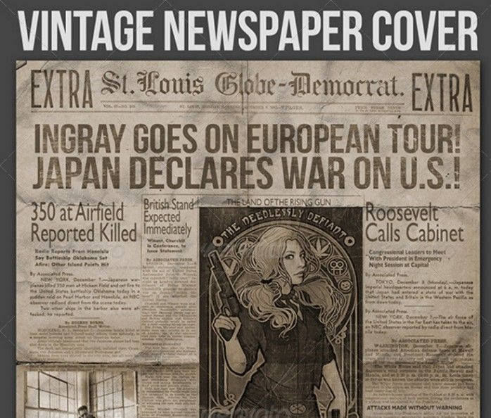 39 best Newspaper Templates images on Pinterest Free fonts - old newspaper template