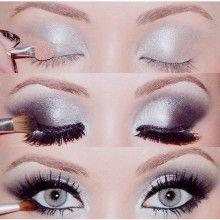.Silver Eyeshadow, Eye Makeup, Eye Shadows, Dramatic Eye, Smoky Eye, Eyeshadows, Eyemakeup, Smokey Eye, New Years
