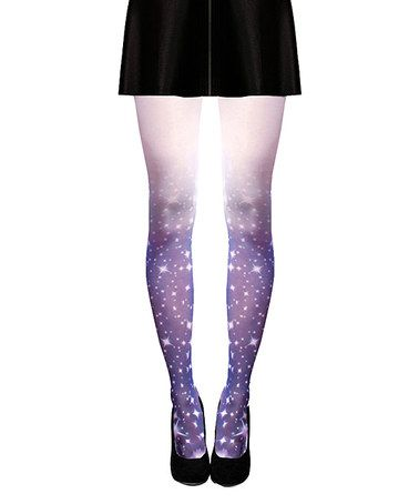 Love this Blue Stardust Ombré Tights by Shadowplaynyc on #zulily! #zulilyfinds