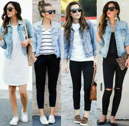 48 Best Ideas fashion outfits women jeans denim jackets 1