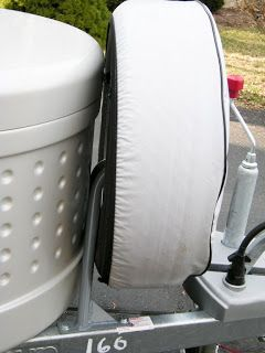 A great Mod, move the spare tire to a tongue mount. Lynne & Millie's T@Bventures: Mods