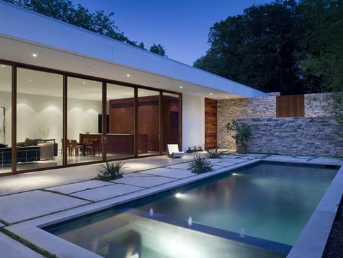 Glenwood Residence in Texas by Wernerfield Architects: Dallas Texas, Small Pools, Swim Pools, Exterior House, Interiors Design, Glenwood Resident, Home Architecture, Modern Home, Pools Design