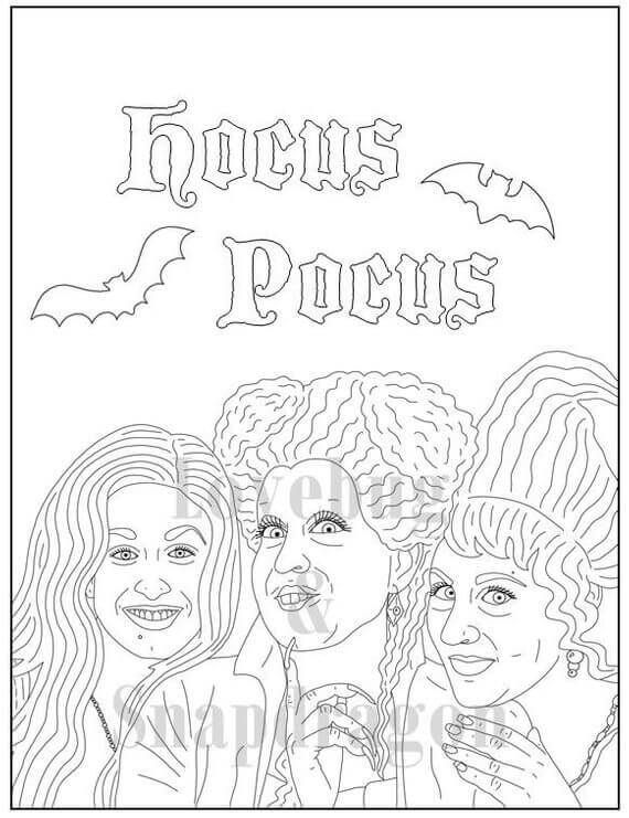 Hocus Pocus Coloring Pages Cartoon Coloring Pages Coloring Pages Halloween Coloring Book