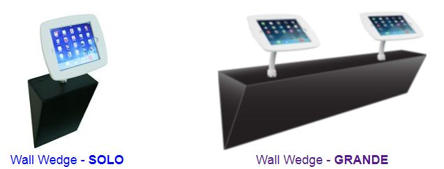 Wall Wedge for Countertop Security Stands