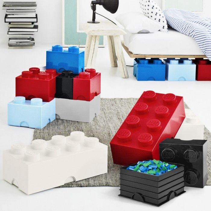 9 colorful storage ideas for kids' rooms like these LEGO storage cubes.
