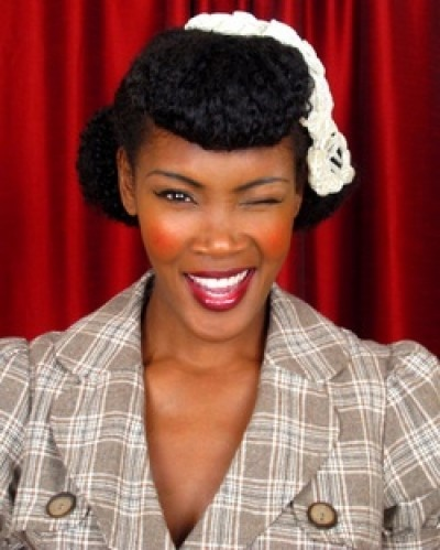 Cute retro hairstyle for African American women