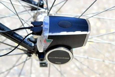 BikeCharge Dynamo - lädt Smartphones und Tablets beim Radfahren