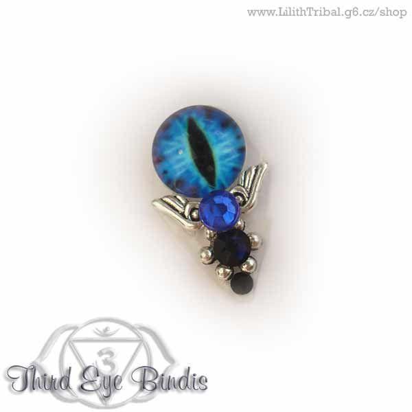 Sauron – tribal bindi – dark blue