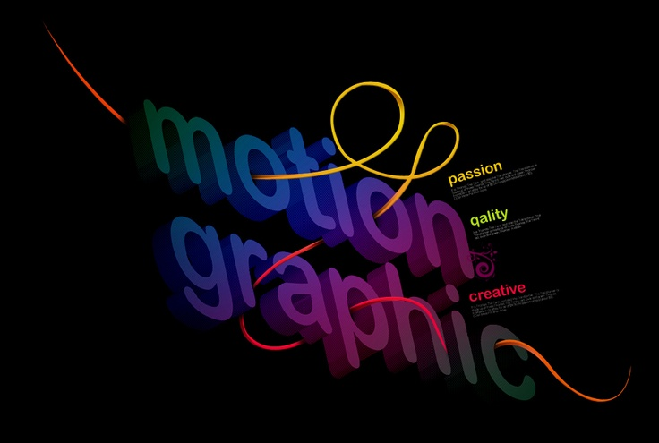 just play with motion graphic words