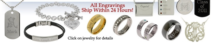 Engraved Jewelry & Engravable Jewelry – Personalized Rings, Necklaces, Bracelets & Pendants