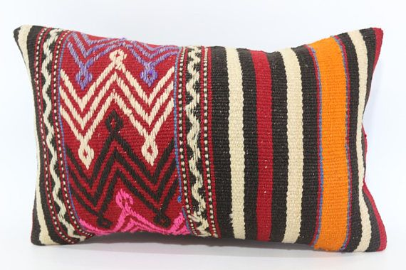 Embroidered Kilim Pillow Home Decor Cushion Cover 12x20 Lumbar Kilim Pillow Decorative Kilim Pillow Striped Kilim Pillow Sp3050 1517 Pillows Kilim Pillows Decorative Pillows