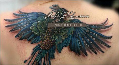 まるでアニメ? 生きているかのように動く「不死鳥タトゥー」が話題に