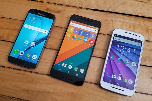 The Best Android Phones   The Samsung Galaxy S7 has the best screen and camera of any Android phone we've tested. It includes a larger battery and a microSD card slot (which last year's Galaxy lacked), but the UI remains somewhat cluttered.