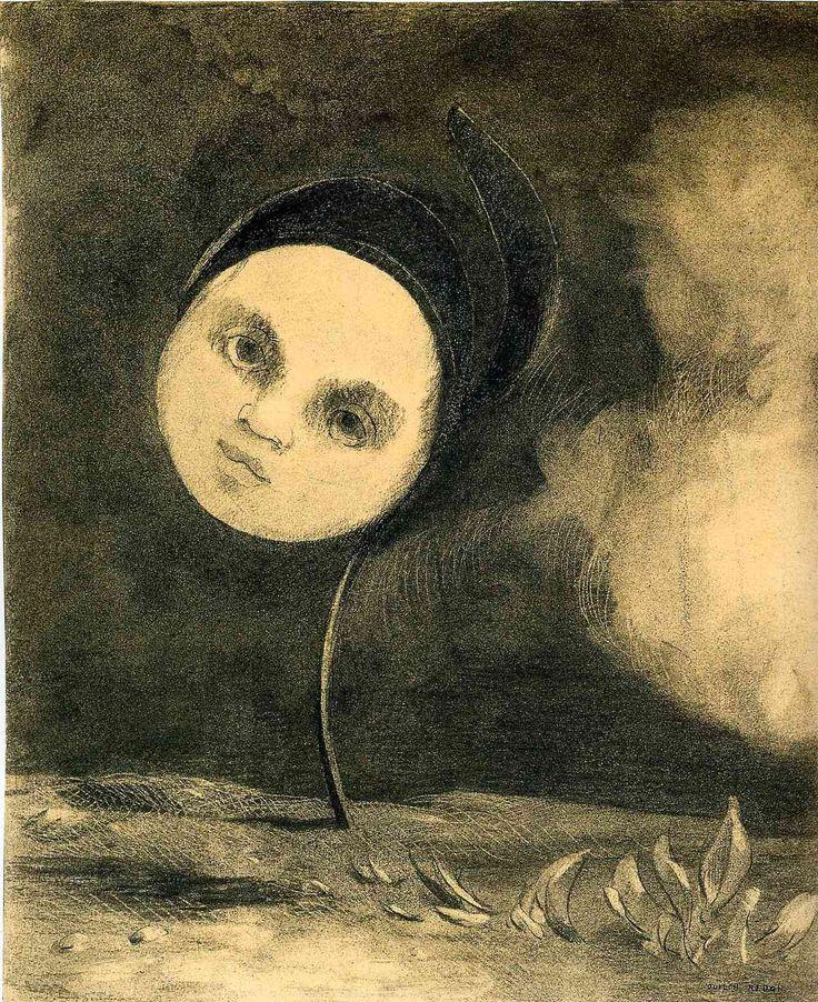 Odilon Redon - Strange Flower (Little Sister of the Poor). 1880