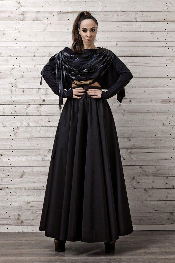 NEW COLLECTION Maxi Black Skirt / Long Black Skirt by Metamorphoza