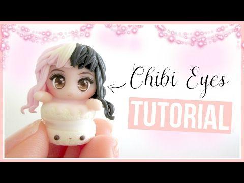 Chibi Manga Polymer Clay Eye with Eyelashes Tutorial ♥︎