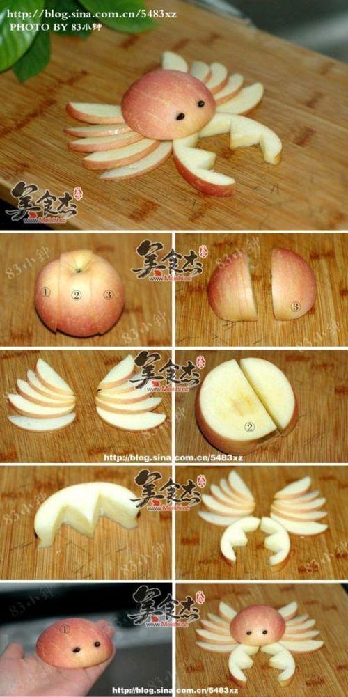 Fresh apple in crab design. #fun #food