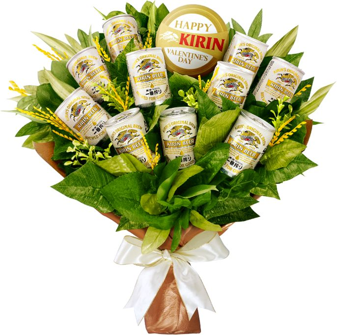 I want this!!!Valentine'S Day, Special Man, Beer Bouquets, Beer Bro Quetes, Gift Ideas, Kirin Beer, Beerbro Quetes, Man Bouquets Ideas, Beer Broquet