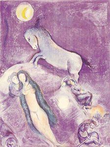 Marc Chagall - Il est allé jusqu à le canapé ...