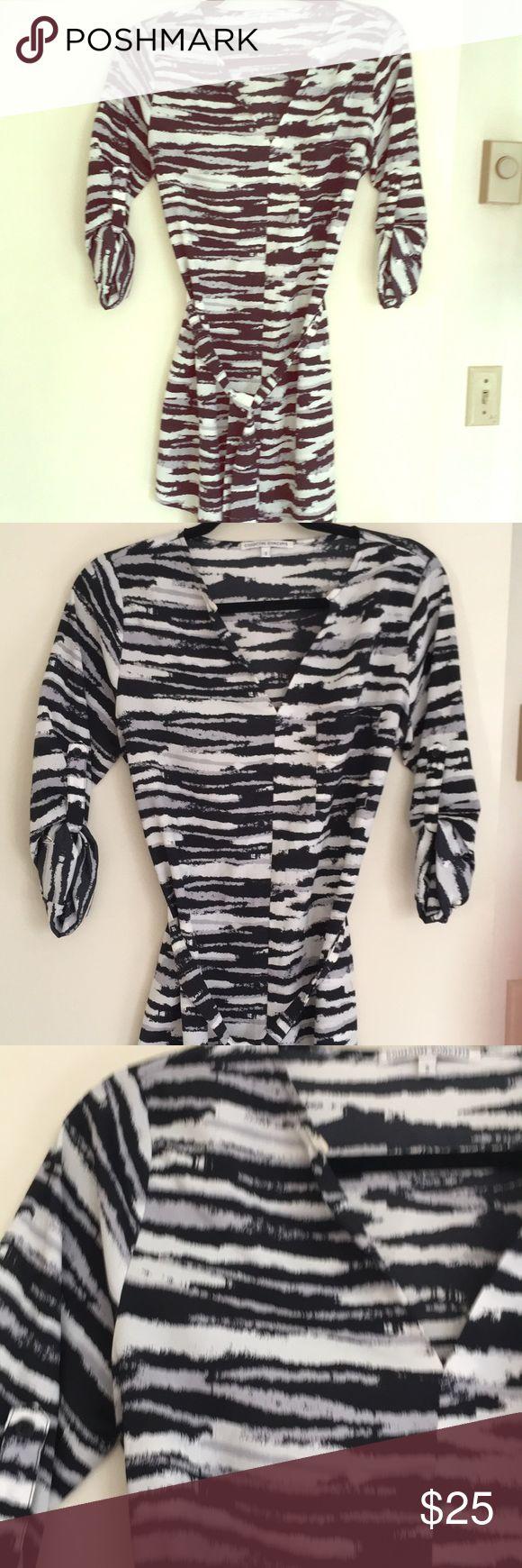 Zebra print dress! Zebra print , light material , worn once Collective Concepts Dresses Long Sleeve