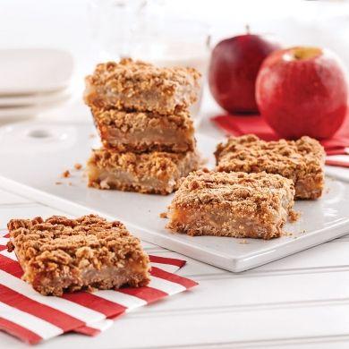 Carrés aux pommes aux flocons d'épeautre - Recettes - Cuisine et nutrition - Pratico Pratiques