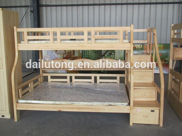 Source hot sale solid wood bunk beds loft bed with cabinet ladder or stair on m.alibaba.com