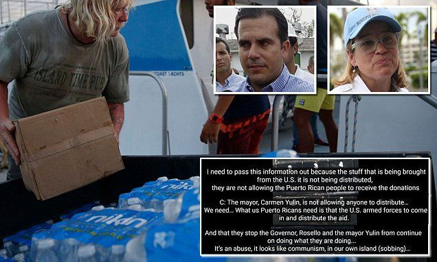 Puerto Rico cop says governor & San Juan mayor are starving citizens