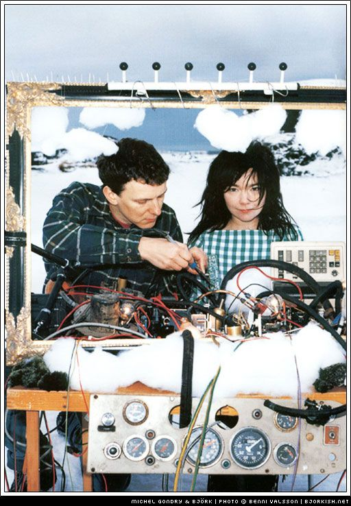 Michel Gondry and Bjork  This duo is AMAZING together