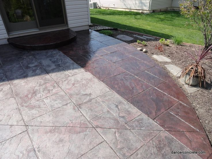 Sealing Stamped Concrete Fort Wayne Indiana By Dancer