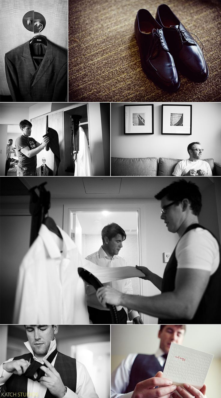 photos of groom getting ready