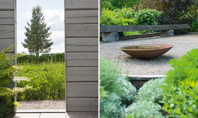 Scandinavian nature lifted through harmony rather than contrasts. A great example of garden design from Wij trädgårdar.