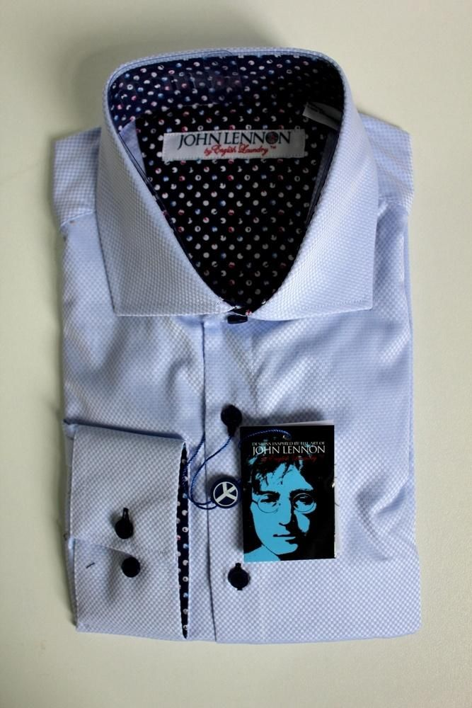 english laundry - John Lennon I Wanna Be Your Man Shirt Sky Blue
