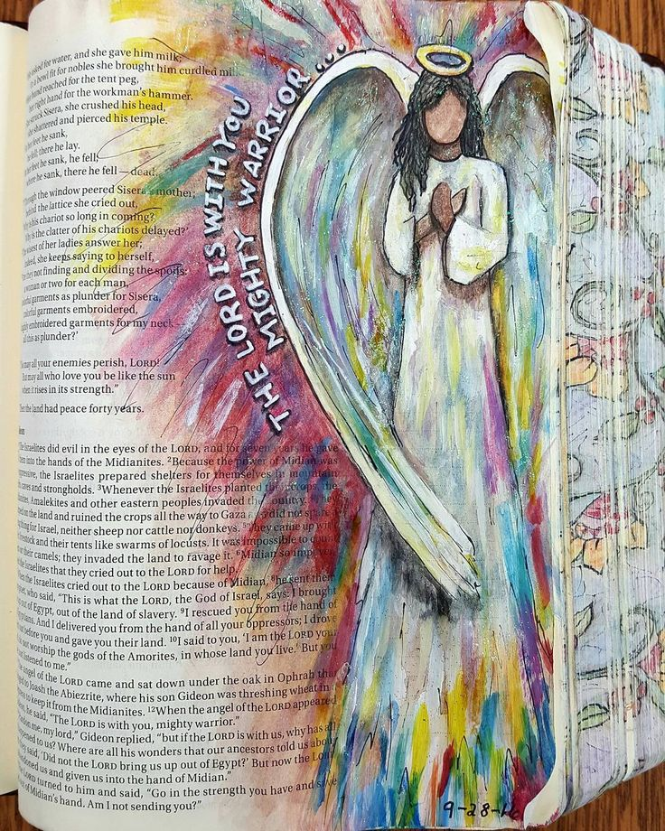 Bible Journaling Angel By