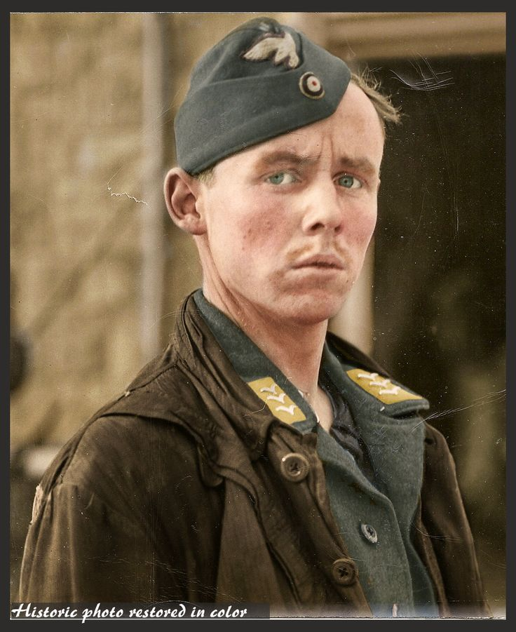 d day landings in colour