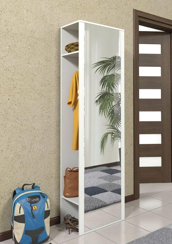 Garderobe Schrank für Diele und Flur weiß / Spiegel Neu