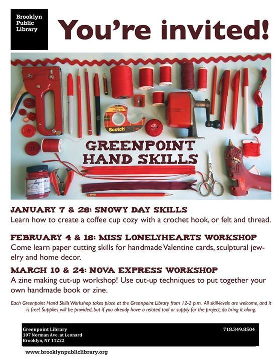 Host a monthly library crafting event aimed at 20-30 somethings.