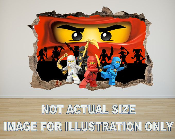 Lego ninjago 3d effect graphic wall vinyl sticker decal - 3d vinyl wandtattoo ...