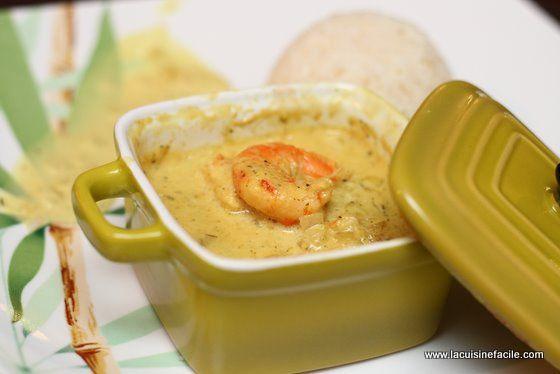 Curry de crevettes express en mini cocotte