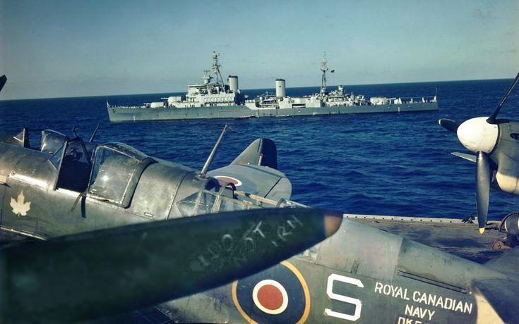 A Fairey Firefly FR.I on HMCS Warrior.
