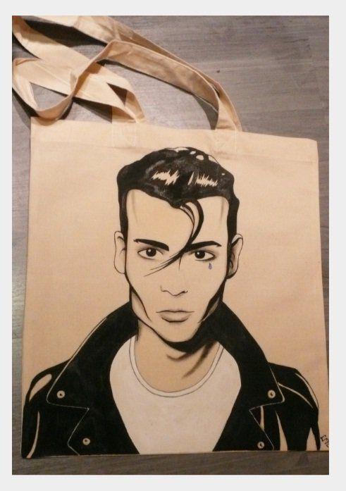Ręcznie malowana torba z Cry Baby